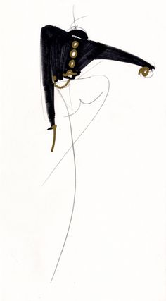 hermans Fashion Illutrations Chic Glamour  Gianfranco Ferré