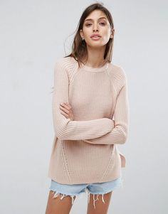 ASOS Ultimate Chunky Sweater With Crew Neck - Pink