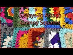 5 Ways to Attach Granny Squares Single crochet join Slip stitch join Whip stitch join Mattress stitch join Granny stitch join YARNutopia by Nadia Granny Square Crochet Pattern, Crochet Blocks, Crochet Squares, Crochet Motif, Crochet Stitches, Granny Square Tutorial, Granny Square Projects, Joining Granny Squares, Grannies Crochet