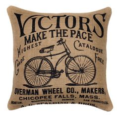 Victor's Bicycles Pillow