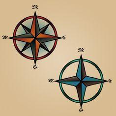 Compass Rose Sailor Tattoo