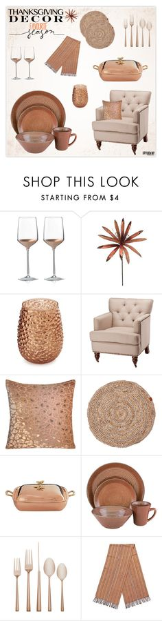 """""""Thanksgiving Table"""" by marion-fashionista-diva-miller ❤ liked on Polyvore featuring interior, interiors, interior design, home, home decor, interior decorating, Wedgwood, Sur La Table, Safavieh and Kevin O'Brien"""