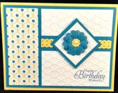 Handmade Happy Birthday Wishes Card using quality Stampin' Up! Products