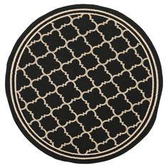 Safavieh Renee Outdoor Rug - Black / Beige (