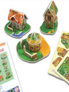 Puzzelkaart 3-D Mini Huis