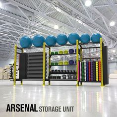 New ARSENAL Storage units! Fully customizable with interchangeable shelves… Home Gyms - http://amzn.to/2hoGXRy