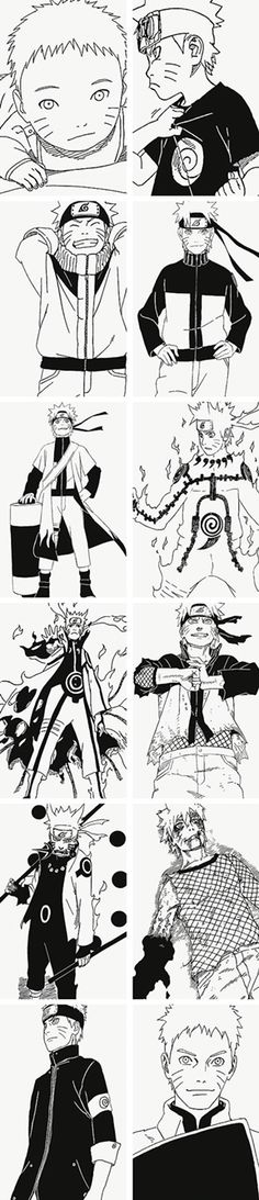 Stages of Naruto