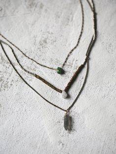 Luxe Triple Necklace   Three tier delicate chain necklace. American made with…