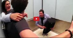 Incrível truque de um ilusionista no elevador