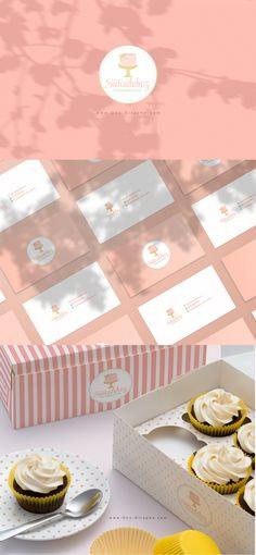 Sütisdoboz Tortadekoráció www.One-Giraphe.com  #cake #logo #portfolio #logodesigner #logodesign #logos #bakery #sweet #pink #designer Cake Logo, Art Director, Creative Art, Bakery, Beverages, Logo Design, Place Card Holders, Branding, Drawings