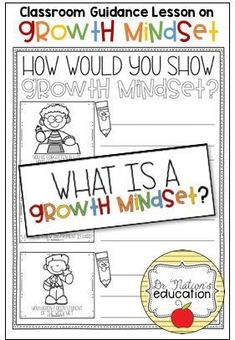 A classroom guidance lesson on the character education trait of growth mindset. Use in the regular classroom or as a part of the school counseling program for through graders. Elementary School Counselor, Elementary Schools, Guidance Lessons, School Programs, Character Education, Growth Mindset, Classroom, Teaching