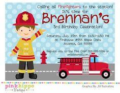 Fireman Birthday Party PinkHippoBoutiqueDIY