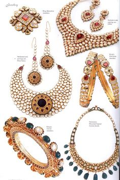 Beautiful ORRA jewellery in Femina Bridal edition -Necklace-earrings-bangles - Latest Jewellery Designs