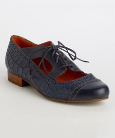 Look at this Latigo Navy Fawn Leather Oxford on #zulily today!