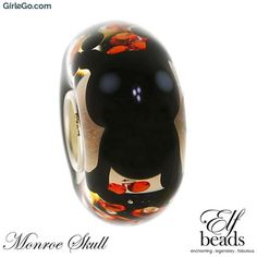 Elfbeads Monroe Skull Limited Edition G160907 Happy Halloween 2016 at GirleGo