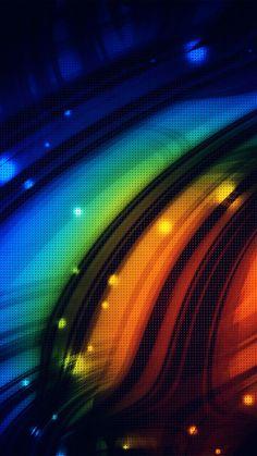 Dots Art Rainbow Pattern #iPhone #6 #plus #wallpaper