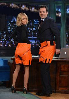 Orange is the new black according to Kelly Ripa and Jimmy Fallon // Hair by Ryan Trygstad