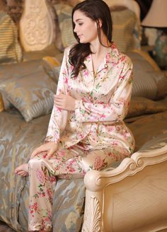 5e6f10b303 Luxury Delicate Silk Pajama and Pants Silk Sleepwear