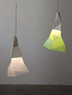 PAPERO, mood light decorative Lamp // concrete & polypropylen