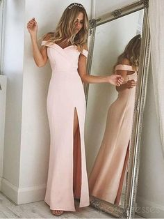 Unique Off Shoulder Prom Dress, Split Side Evening Party Dress,White Mermaid Prom Dress,Sexy Prom Dresses sold by DRESS. Shop more products from DRESS on Storenvy, the home of independent small businesses all over the world. Prom Dresses Long Pink, Elegant Bridesmaid Dresses, Prom Dresses 2018, Mermaid Prom Dresses, Cheap Prom Dresses, Sexy Dresses, Formal Dresses, Dress Prom, Party Dresses