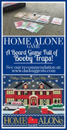 Home Alone the board game is sure to be a new family favorite for family game night. A great game for both kids and adults full of booby traps from the classic movie. games for family Games To Play With Kids, Board Games For Kids, Family Board Games, Home Alone Christmas, Christmas Movie Night, Family Christmas, Home Alone Movie, Alone Game, Artwork For Home