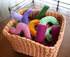 Easy to make wool felt letters to help kids learn letters and spelling (tutorial)