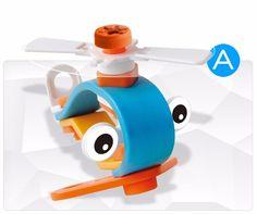 Kids Boys & Girls DIY Assembled Plane Educational Toys Building Blocks Bricks #Unbranded