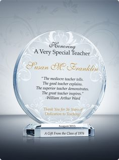 1000+ images about Teacher Awards & Plaques on Pinterest ...
