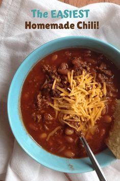 This homemade chili