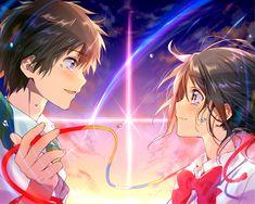 君の名は。 Kimi no Na wa Kimi No Na Wa, Film Manga, Film Anime, Manga Anime, Wallpaper Animes, Animes Wallpapers, Hd Wallpaper, Couple Wallpaper, Heart Wallpaper