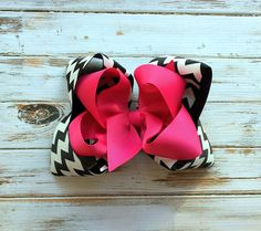 Chevron hair bow headband Girls hair bows by PoshPrincessBows1, $11.99