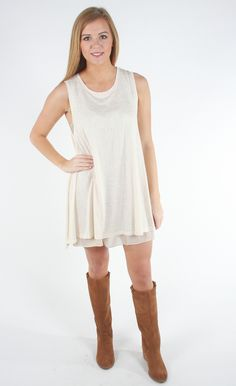 Comfort & Joy Tank Dress - Cream