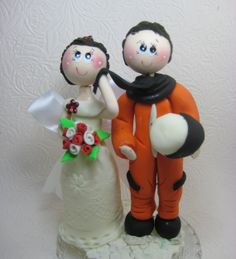 Custom wedding cake topper astronaut groom space by CuteToppers, $85.00