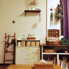 tomoさんの、手作りラダー,多肉植物,ダイソー,セリア,雑貨,DIY,あじさいドライ,Lounge,のお部屋写真