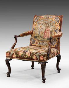 OnlineGalleries.com - 19th Century mahogany Gainsborough Chair
