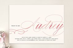 Blushing Mom to Be Baby Shower Invitations by annie clark at minted.com