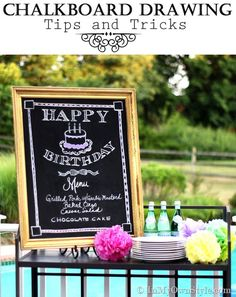 How to draw artfully on a chalkboard. Tips, Tricks,and a step by step tutorial. Perfect for learning how to make that kitchen sign cute!