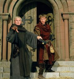 'Brother Cadfael' Hugh Beringar: [as he and Cadfael watch Godith and Torold depart] You'll miss her.  Brother Cadfael: Like a fiber gone from my heart.