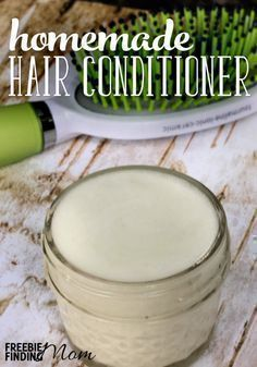 4 Ingredient Homemade Conditioner For Natural Hair Would you like luxurious locks and be the envy of your friends? This homemade conditioner for natural hair will sooth dry and damaged hair and give it a silky luster plus it only takes minutes to whip up. Natural Hair Care, Natural Hair Styles, Natural Beauty, Organic Beauty, Natural Beard Oil, Organic Makeup, Natural Curls, Natural Skin, Homemade Hair Conditioner