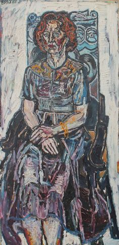 Bratby, John Randall Eileen Joyce, 48 x 24 in, 122 x 61 cm, Oil on Board. John Bratby, Vera Lynn, Katherine Jenkins, Living In England, Painting Collage, Painting People, National Portrait Gallery, Popular Culture, Classical Music