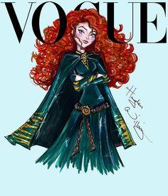 Capas de Vogue com as Princesas Disney
