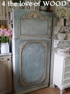 after......4 the love of wood: PAINTING MY FRIDGE - with annie sloan chalk paint