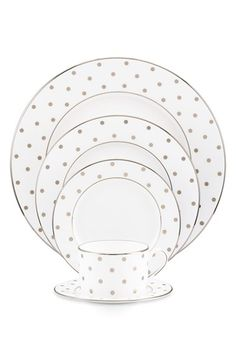 kate spade new york 'larabee road platinum' bone china 5-piece dinnerware set available at #Nordstrom