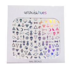 Metallic Holographic Nail Decals by MonicaHues on Etsy