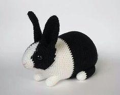 Parece un conejito real!!!!! Hermoso de la web sin patrón
