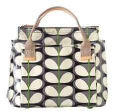 Orla Kiely Solid Stem Handbag in Oxford Blue