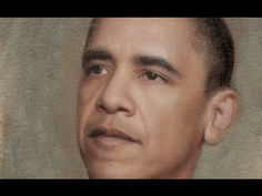 "Yuehua He oil painting""Obama"" - YouTube"