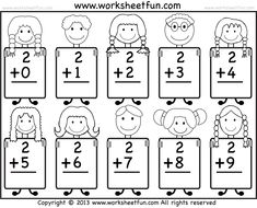 Looking for a Free Printable Math Addition Worksheets For Kindergarten. We have Free Printable Math Addition Worksheets For Kindergarten and the other about Benderos Printable Math it free. Kindergarten Addition Worksheets, Addition And Subtraction Worksheets, Kindergarten Math Worksheets, Preschool Math, Math Activities, Multiplication Worksheets, Fun Math, Addition Doubles, Addition Facts