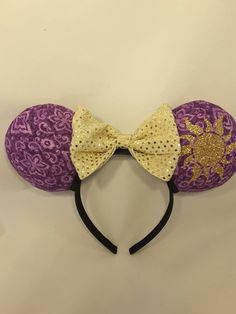 Rapunzel Mouse Ears- Tangled Minnie Mouse Ears- Mickey Mouse Ears- Bows- Princess- Disney Inspired- Sun- Flag by TheSouthernMouse on Etsy https://www.etsy.com/listing/288615389/rapunzel-mouse-ears-tangled-minnie-mouse