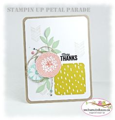 Petal Parade Thank you by SandiMac - Cards and Paper Crafts at Splitcoaststampers